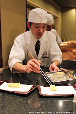 Serving Tempura at Tempura Endo Yasaka