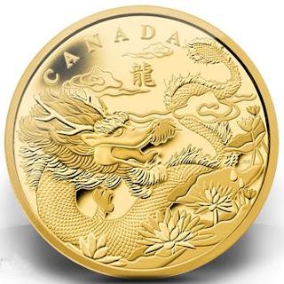 Royal Canadian Mint Dragon Gold Coin 2012 Lunaticg Coin