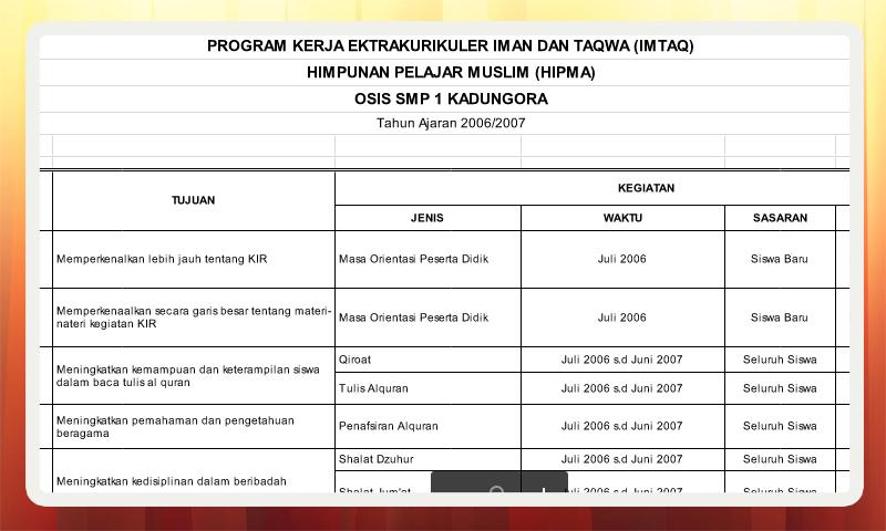 Program Kerja Ekstrakulikuler Jadwal Qiro'at Iman dan Taqwa
