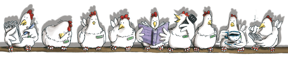 Hühnchen, Comic, Cartoon, Kinderbuch, Geschenkbuch, Hühner auf der Stange, Hennen Kommoss, Hennen, lustig, fleißige Hühner