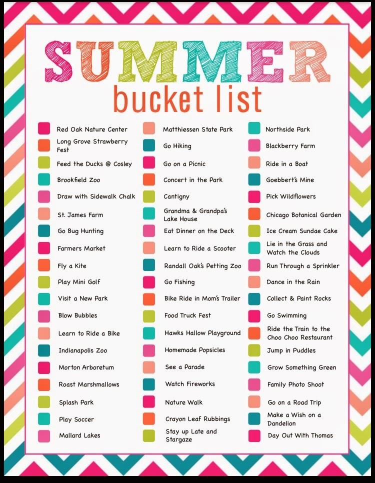 Dworianyn Love Nest: Summer Bucket List