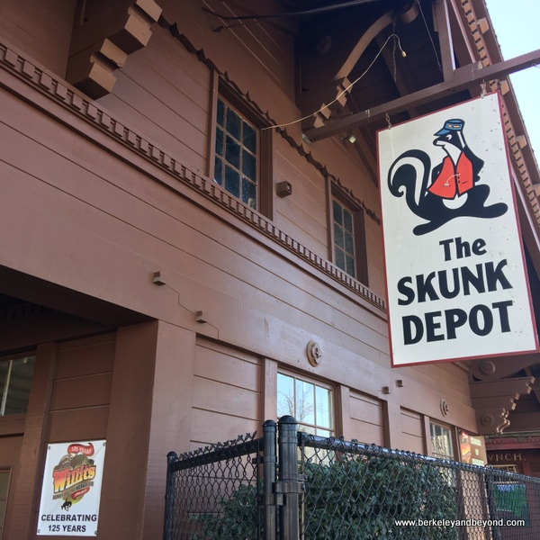Skunk Train depot in Willits, California
