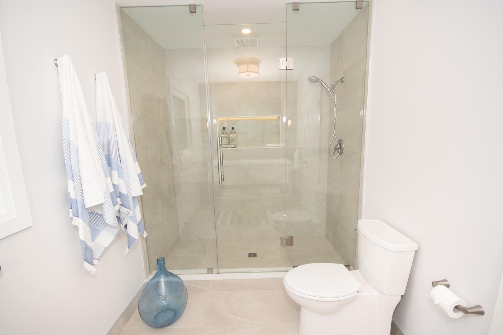 shower stall in luxury washroom