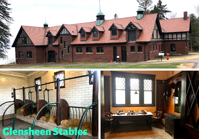 Walking into the stables at Glensheen in Duluth, Minnesota