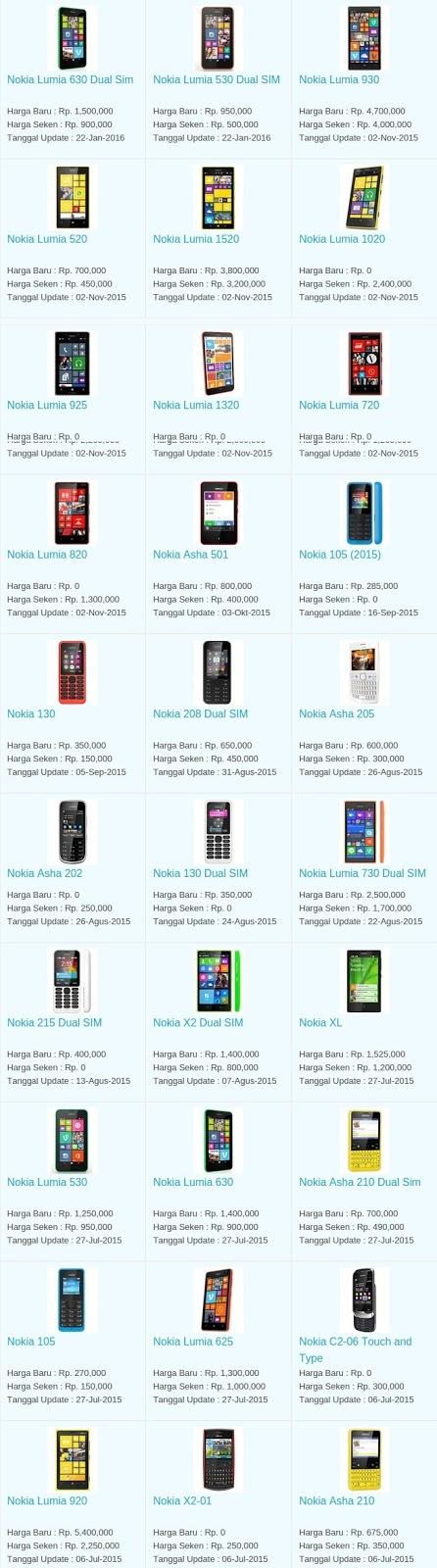Harga Hp Terbaru Nokia Agustus 2016