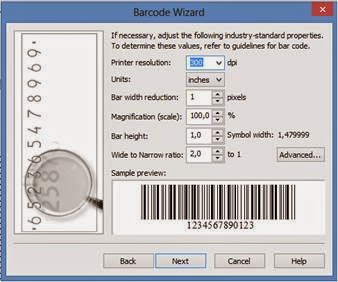 size/ukuran barcode