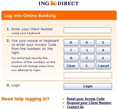 Ing Direct Secure Online Login
