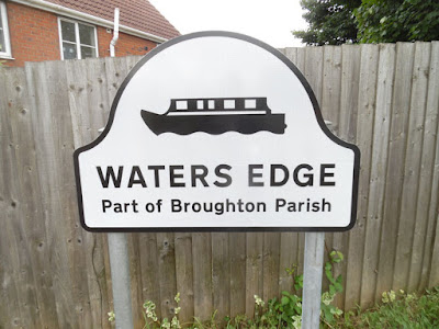 The Waters Edge housing estate is within Broughton parish but only a stone's throw from Brigg - being close to the local authority border