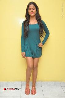 Telugu Actress Prasanthi Stills in Green Short Dress at Swachh Hyderabad Cricket Press Meet  0116.JPG