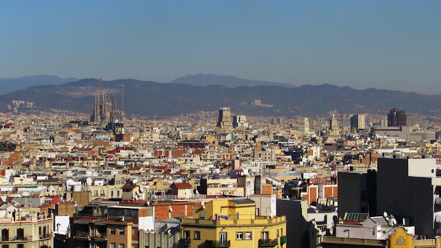 widok na Sagrada Familia