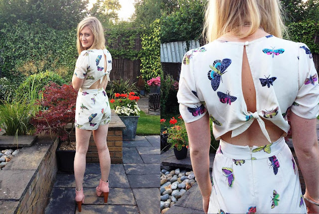 ASOS Butterfly Playsuit