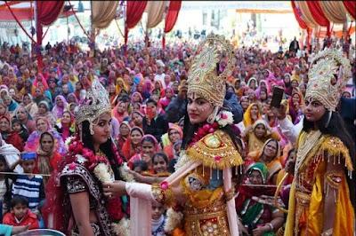 श्रीराम कथा महोत्सव में राम विवाह प्रसंग का किया वर्णन | PICHORE NEWS