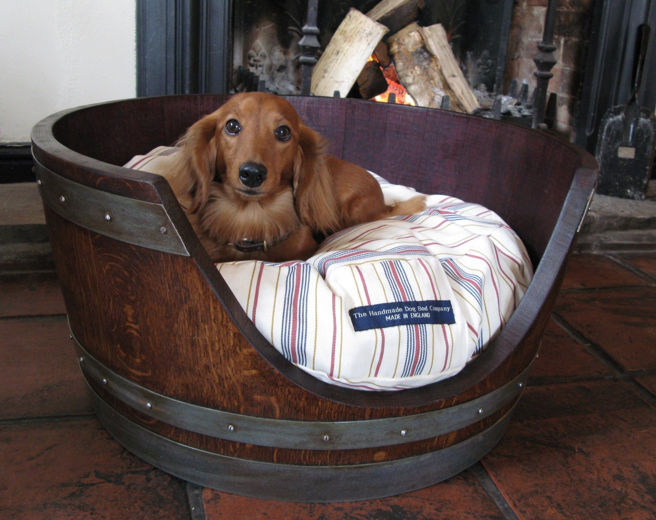 The Gilded Horn Dog Bed From A Wine Barrel