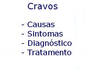 Cravos causas sintomas diagnóstico tratamento prevenção riscos complicações