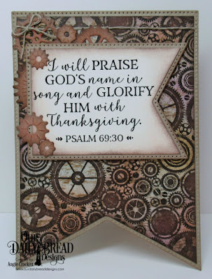 Our Daily Bread Designs Stamp Set: God Verses 2, Paper Collection:Vagabond Treasures, Custom Dies:Large Banners, Steampunk Gears
