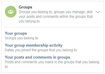 Explore Facebook Activity Log