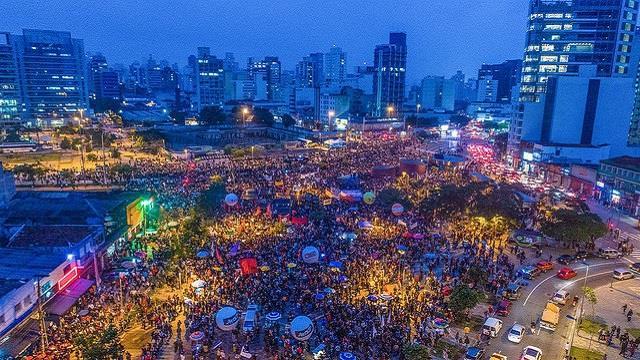 Cerca de 70 mil pessoas estiveram no ato da Greve Geral no Largo da Batata, na capital paulista / / Ricardo Stuckert
