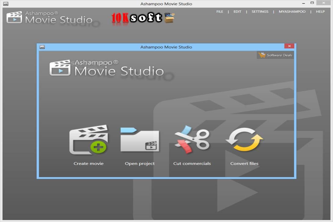 Ashampoo Movie Studio Interface