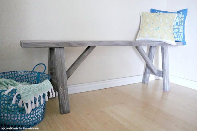 Farmhouse bench free plans