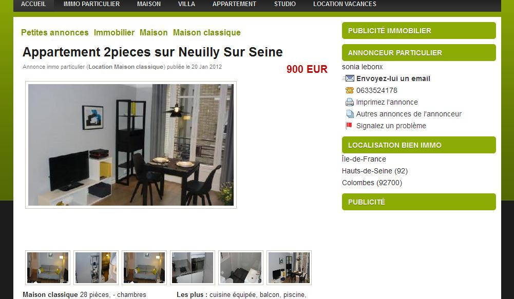 tr s beau studio meubl de 28 m 30. Black Bedroom Furniture Sets. Home Design Ideas
