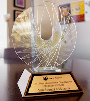 Photo of Sun Sounds 2017 City of Phoenix Mayor's Commission on Disability Business Award