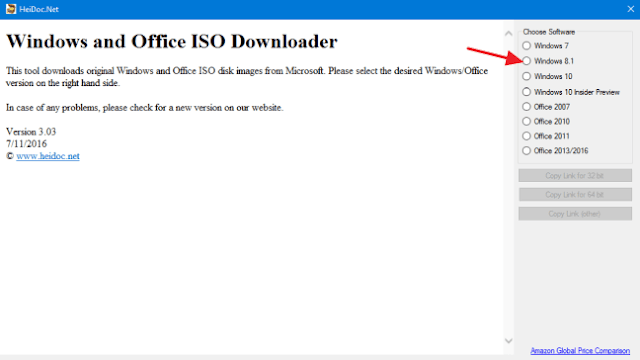 memilih jenis file iso windows yang ingin di download di microsoft windows tool iso