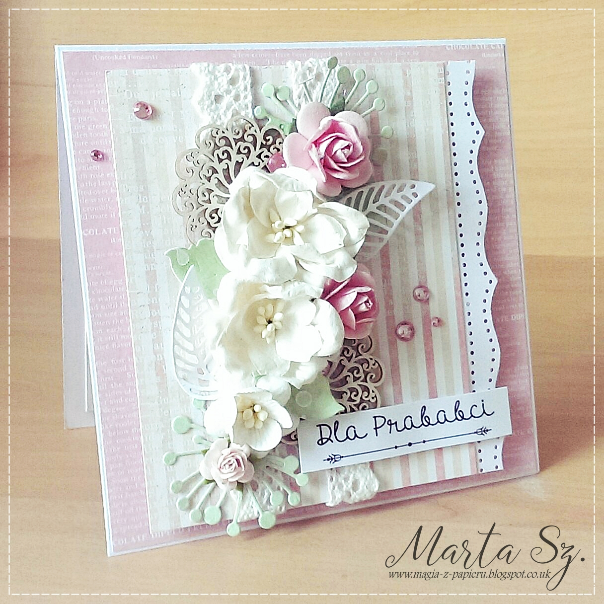 Scrap And Craft Cards With Flowers