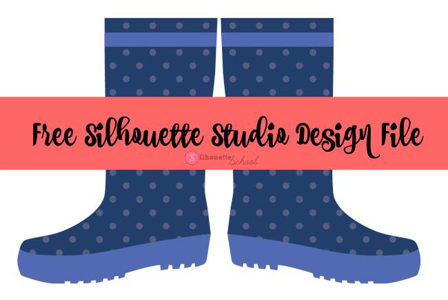 free silhouette studio rain boots design file  silhouette