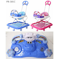Baby Walker Family FB181C Cow Music Melody 3 in One Walker, Ayunan & Dorongan