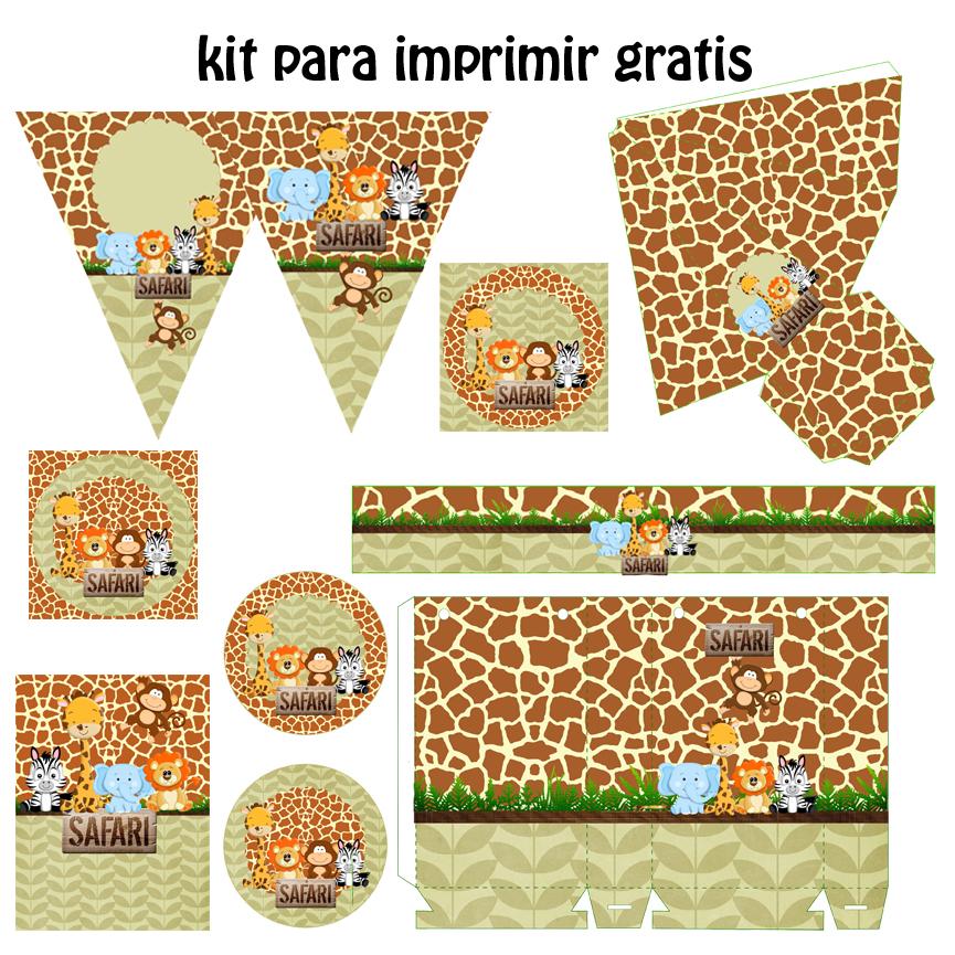 Kit festa digital saf ri para imprimir gratis for Kit para toldos de enrollar