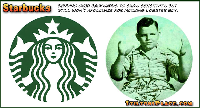stilton's place, stilton, political, humor, conservative, cartoons, jokes, hope n' change, starbucks, racism, lobster boy, logo