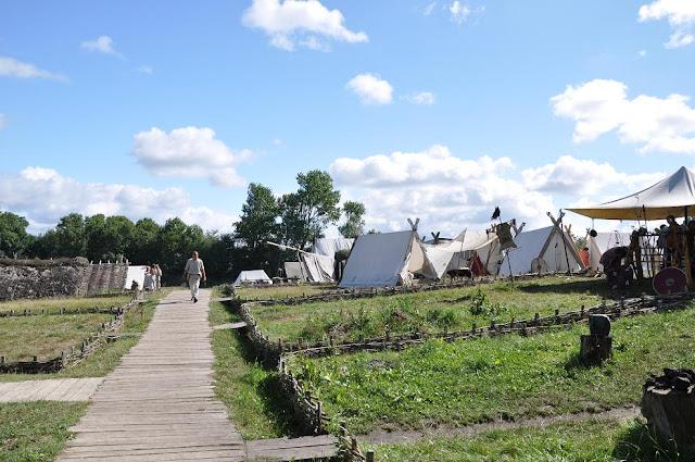 Ribe VikingeCenter - skansen archeologiczny w Ribe w Danii - targ