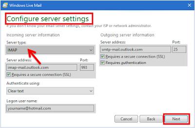 Configure server setting