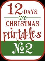 Christmas Carol Subway Art (12 Days of Christmas Printables #2)