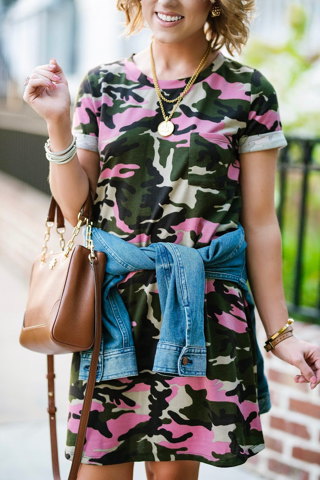 Under $50 Pink Camo T-Shirt Dress - Something Delightful Blog