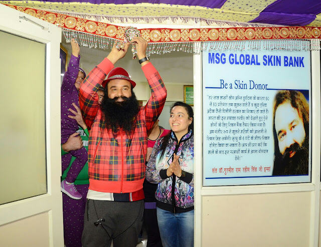 Saint Dr. Gurmeet Ram Rahim Singh Ji Insan inaugurating North India's First Skin Bank in Dera Sacha Sauda Sirsa