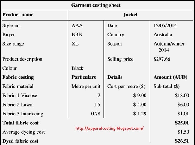 Apparel costing format-01