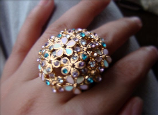 Accessories: Flower ring from F21
