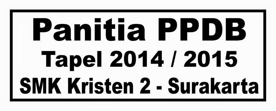 Contoh Design Gambar Stempel Panitia PPDB 2014-2015