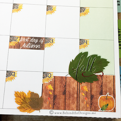 Close up of Corner in Happy Planner using September Autumn Monthly Sticker Kit in Sunflowers | Behind the Designs DIY Craft and Planning Blog