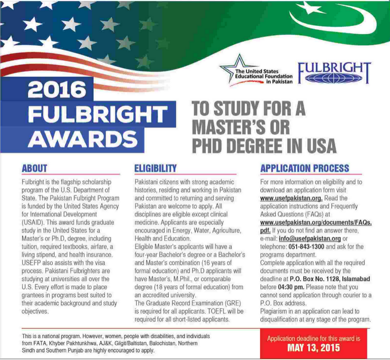 Fulbright Scholarships 2016