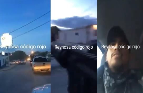 VIDEO; Sicarios en Río Bravo en conovoy fuertemente armado patrullan las calles y apuntan a civiles por diversión