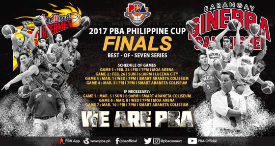 Ginebra vs. San Miguel: 2017 PBA Philippine Cup Finals Schedule (Dates, TV times, results and ...
