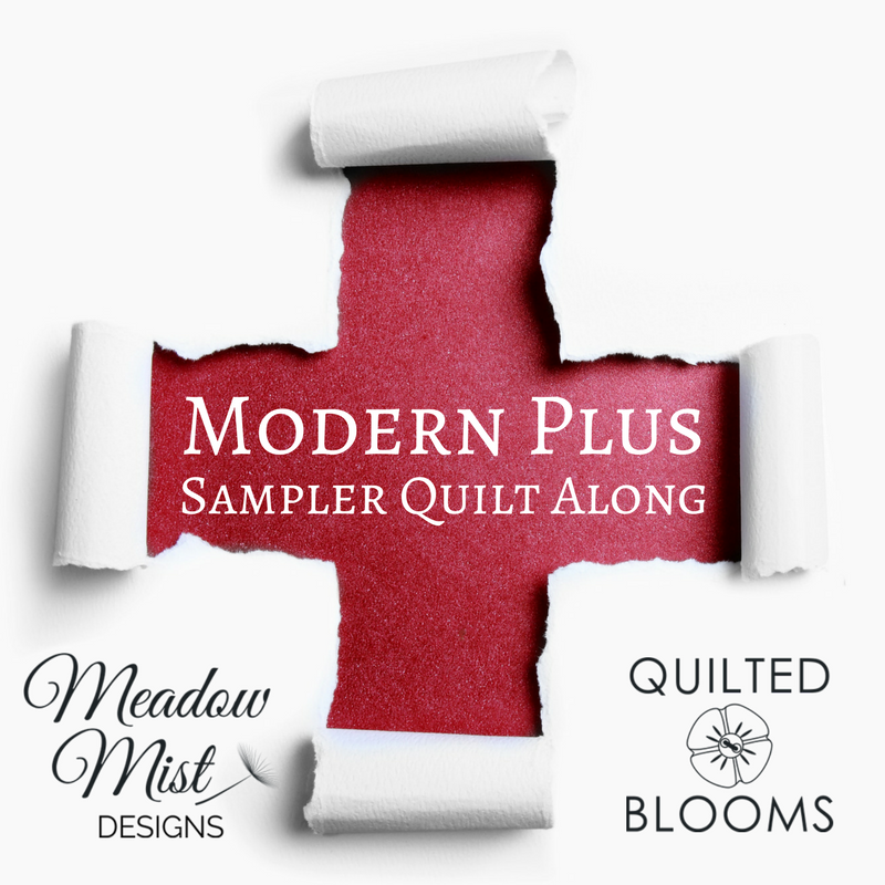 Quilted Blooms Modern Plus Sampler Quilt Along