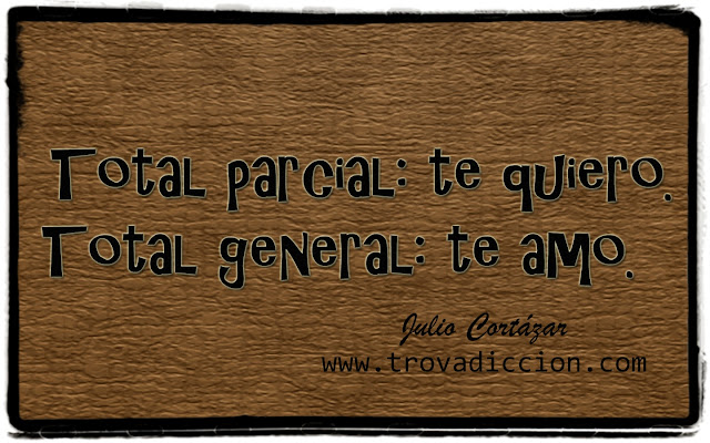 Total Parcial-Te quiero.Total general-Te amo