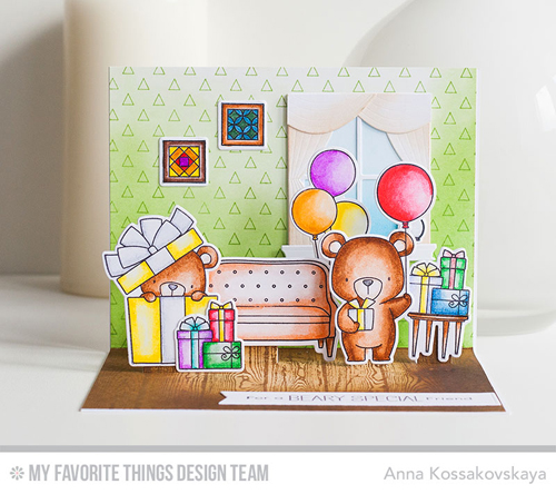 Handmade card from Anna Kossakovskaya featuring products from My Favorite Things #mftstamps