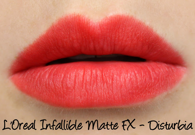 L'Oreal Infallible Matte FX - Disturbia Swatches & Review