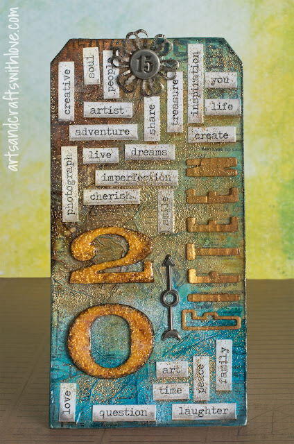 Cardmaking: January tag in series '12 Tags of 2015'