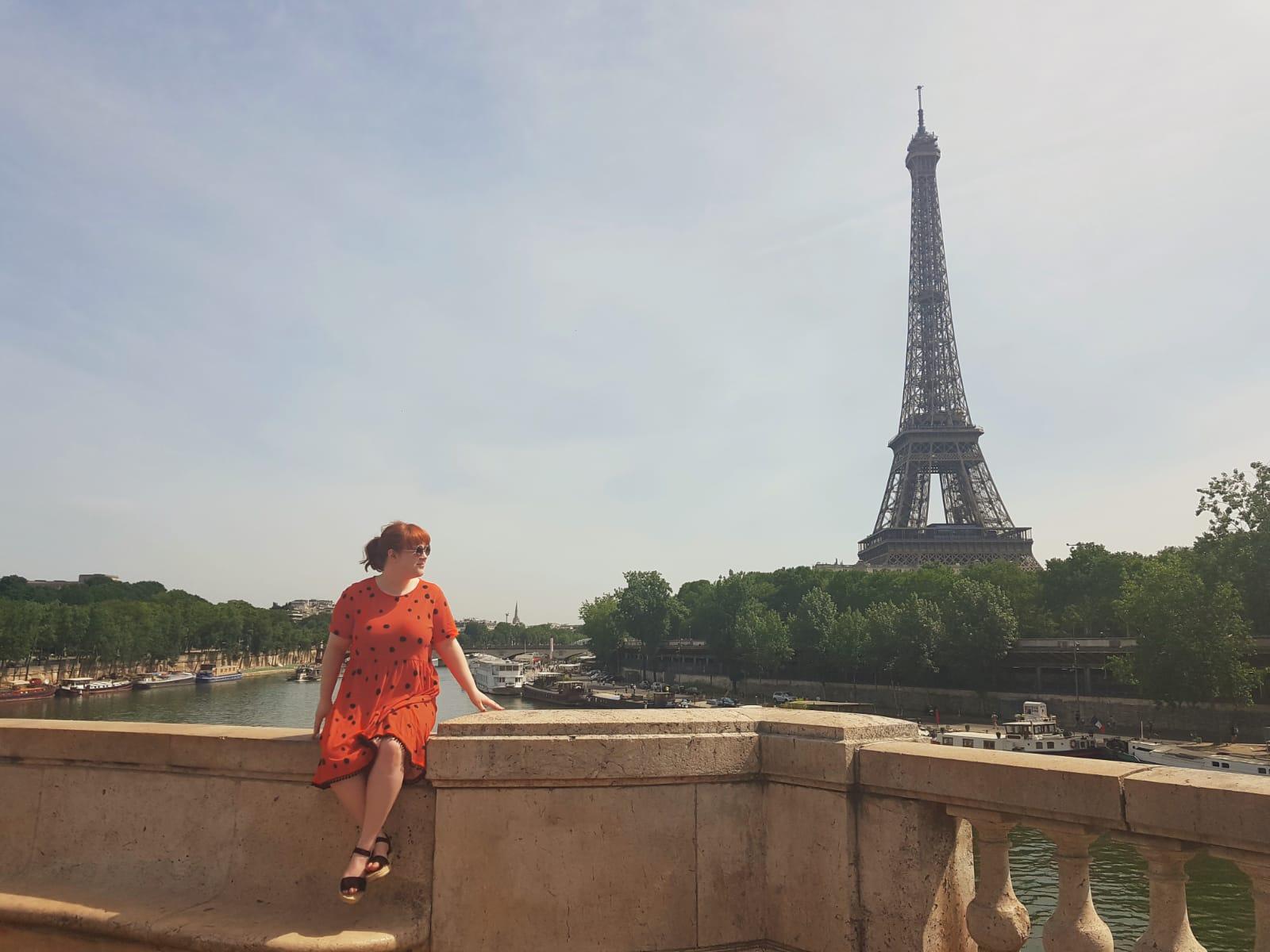 View of Eiffel Tower Isle Aux Cygnes Bir Hakeim