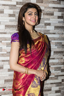 Pranitha Pictures in Red Silk Saree at Hyderabad Chefs Restaurant Launch ~ Celebs Next